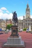 Statua di Quenn Victoria a Glasgow City Chambers Immagini Stock