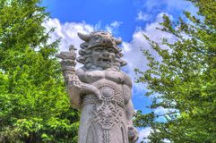 Statua di Radegast Fotografia Stock