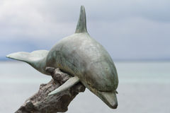 Statua di rame del delfino Immagine Stock