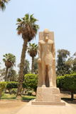Statua di Ramses II a Memphis, Egitto. Immagine Stock