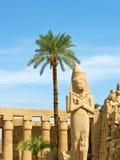 Statua di Ramses II in tempiale di Karnak Immagine Stock Libera da Diritti
