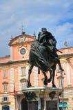 Statua di Ranuccio Farnese Piacenza L'Emilia Romagna L'Italia Fotografie Stock Libere da Diritti