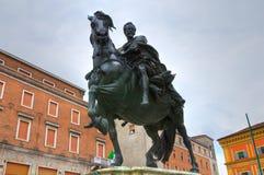Statua di Ranuccio Farnese Piacenza L'Emilia Romagna L'Italia Fotografia Stock