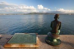Statua di Raqueros a Santander Fotografia Stock Libera da Diritti