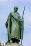 Statua di re Afonso Henriques Guimaraes portugal fotografia stock libera da diritti