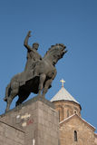 Statua di re Gorgasali, Tbilisi Fotografia Stock Libera da Diritti