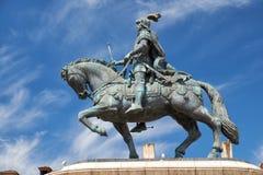 Statua di re Joao I sul Praca da Figueira lisbona Portuga Fotografie Stock