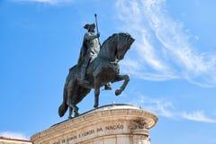 Statua di re Joao I sul Praca da Figueira lisbona Portuga Immagini Stock