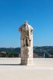 Statua di re Joao III del Portogallo, Coimbra (Portogallo) immagini stock