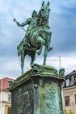 Statua di re Karl IX di Gothenburg Immagine Stock