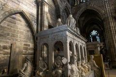 Statua di re Louis XII in basilica di St Denis Fotografia Stock