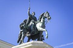 statua di re Ludwig il primo a Monaco di Baviera Fotografia Stock