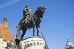Statua di re Matthias immagine stock libera da diritti