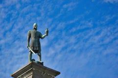 Statua di re Olav a Trondeim, Norvegia Immagini Stock