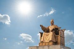 Statua di re Sejong della Corea del Sud Fotografia Stock Libera da Diritti