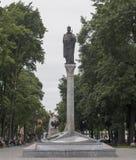 Statua di re Zygmunt in Polonia immagine stock libera da diritti