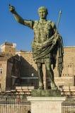 Statua di Roman Emperor Augustus a Roma, Italia immagini stock libere da diritti