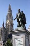 Statua di Rubens a Anversa Fotografia Stock Libera da Diritti
