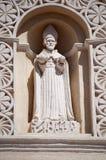 Statua di San Andreas sulla cattedrale, Comayagua, Honduras. immagini stock