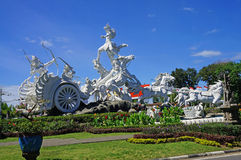 Statua di Satria Gatotkaca, Kuta, Bali Immagine Stock