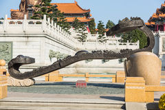 Statua di scripture del taoista fotografia stock