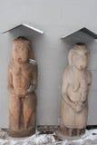 Statua di Scythian sotto un baldacchino Fotografia Stock Libera da Diritti