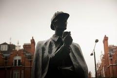 Statua di Sherlock Holmes, Londra fotografia stock