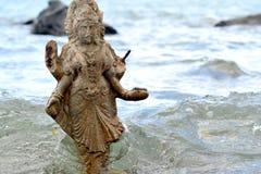 Statua di Shiva in Mauritius fotografia stock