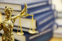 Statua di signora Justice (Justitia) Fotografia Stock