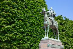 Statua di Simon Bolivar a Parigi Immagini Stock Libere da Diritti