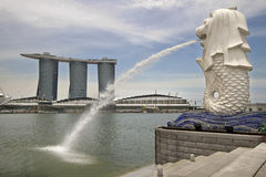 Statua di Singapore Merlion Fotografie Stock