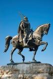 Statua di Skanderberg, Tirana, Albania fotografia stock libera da diritti