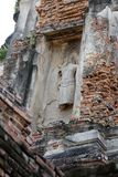 Statua di sollievo da Wat Phra Si Sanphet Fotografia Stock