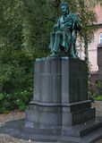 Statua di Soren Kierkegaard a Copenhaghen, Danimarca Immagine Stock Libera da Diritti