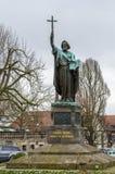 Statua di St Boniface, Fulda, Germania fotografia stock libera da diritti