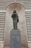 Statua di St Paul di Almudena Cathedral. Madrid, Spagna Fotografie Stock