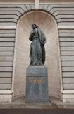 Statua di St Peter di Almudena Cathedral. Madrid, Spagna Fotografia Stock Libera da Diritti