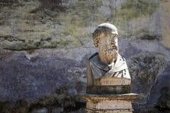 Statua di Stesicoro, Roma, Italia Immagine Stock Libera da Diritti