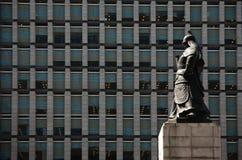 Statua di Sun-peccato di Yi a Seoul, il Sud Corea. Immagini Stock