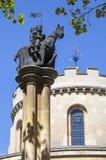 Statua di Templar dei cavalieri alla chiesa del tempio a Londra Fotografie Stock