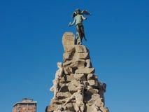 Statua di Traforo del Frejus a Torino Fotografie Stock