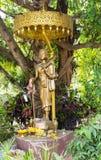 Statua di trasporto dell'ombrello del monaco fotografia stock libera da diritti