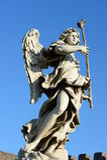 Statua di un angelo a Roma Fotografia Stock