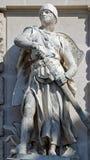Statua di un cavaliere medievale Fotografia Stock