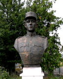 Statua di un eroe in Marasesti, commemorativa dal WWI Fotografie Stock Libere da Diritti