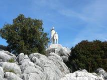 Statua di un guardia forestale Immagini Stock Libere da Diritti
