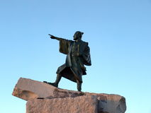 Statua di un guerriero del samurai Fotografie Stock