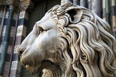 Statua di un leone Fotografia Stock Libera da Diritti