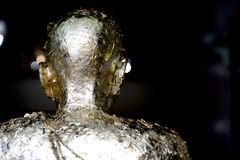 Statua di un monaco Immagini Stock Libere da Diritti
