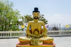 Statua di un monaco che medita - Pattaya, Tailandia Fotografia Stock